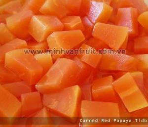 Canned Red Papaya Tidbits 1