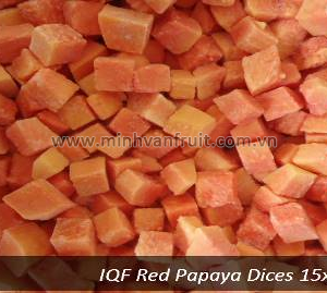 Frozen Red Papaya Dices 1